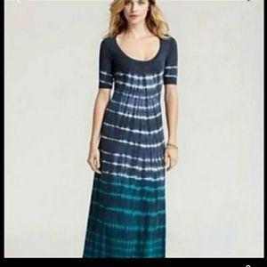 C&C California tie dye half sleeve maxi dress